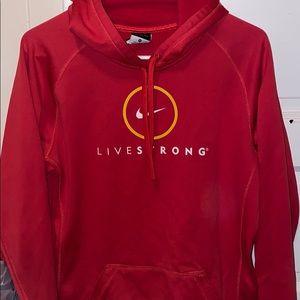 Nike live strong women's thermafit sweatshirt